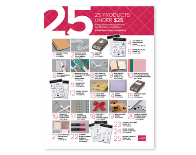 25 under products from the Holiday Catalogue