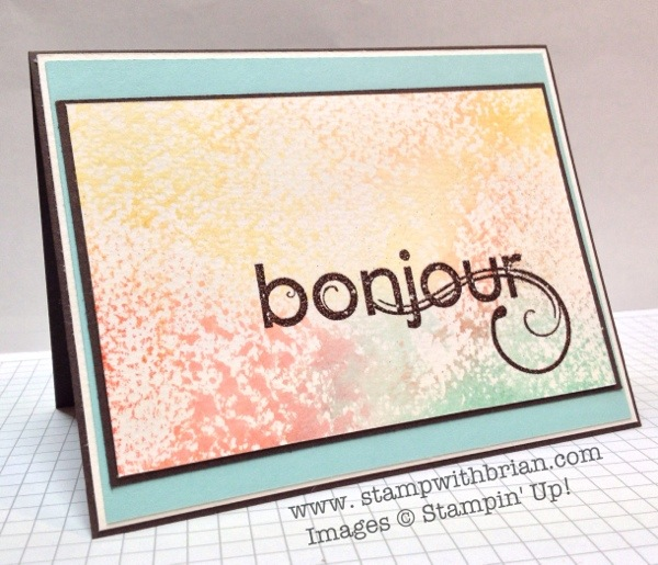 Chere Amie (My Friend), Stampin' Up!, Brian King