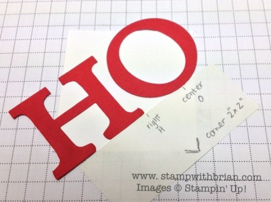 Consistent letter placement at an angle, Stampin' Up!, Brian King