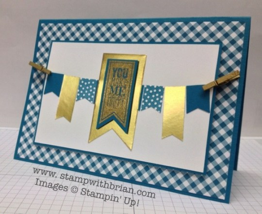 Perfect Pennants, Banner Blast, Stampin' Up!, Brian King