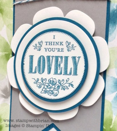 You're Lovely, Stampin' Up!, Brian King, FMS120