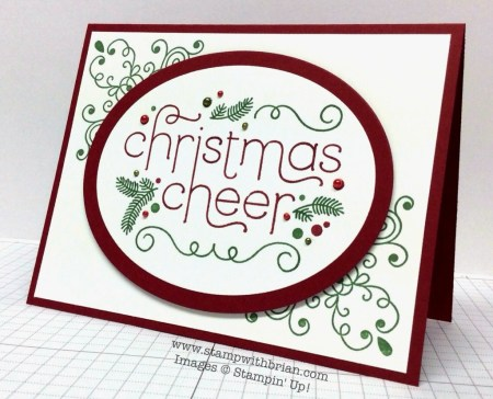 Cheerful Christmas, Wintertime, Stampin' Up!, Brian King, PPA213