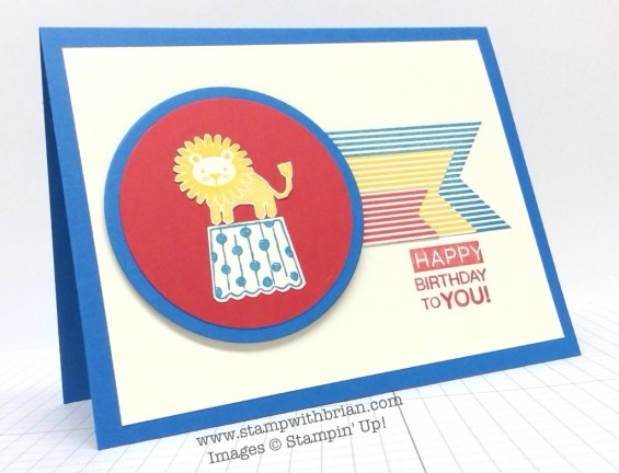 Zoo Babies, Cupcake Party, Amazing Birthday, Stampin' Up!, Brian King, PP209