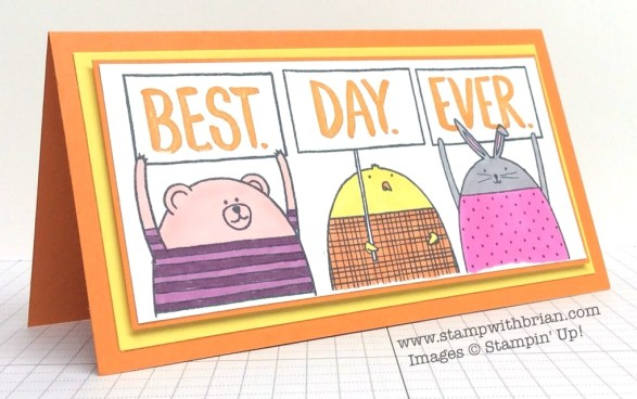 Best Day Ever, Cheerful Critters, Stampin' Up!, Brian King