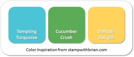Stampin' Up! Color Inspiration: Tempting Turquoise, Cucumber Crush, Daffodil Delight