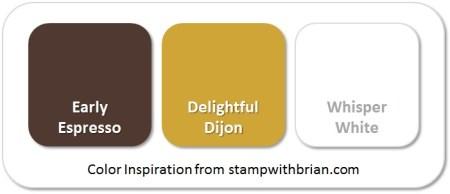 Stampin' Up! Color Inspiration: Early Espresso, Delightful Dijon, Whisper White
