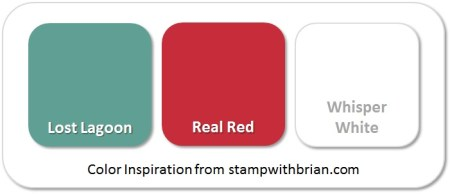 Stampin' Up! Color Inspiration: Lost Lagoon, Real Red, Whisper White