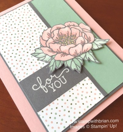 Birthday Blooms, Birthday Bouquet Designer Series Paper, Stampin' Up!, Brian King