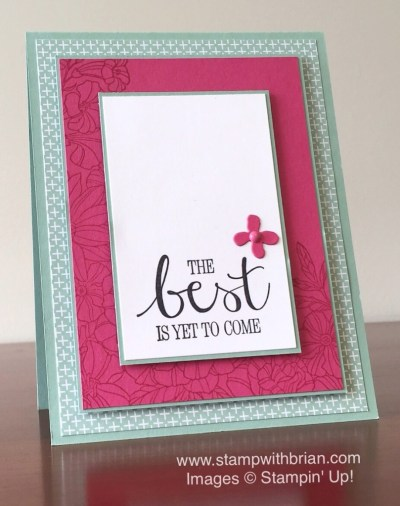 Best Thoughts, Flower Garden, Stampin' Up!, Brian King