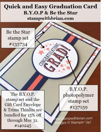 BYOP, Be the Star, Stampin' Up!, Brian King, GDP033