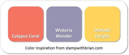 Stampin' Up! Color Inspiration: Calypso Coral, Wisteria Wonder, Daffodil Delight