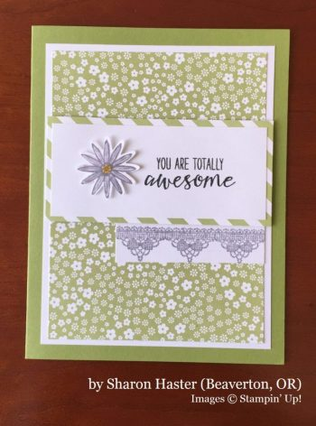 Sharon Haster, Beaverton OR, Stampin' Up!, card swap