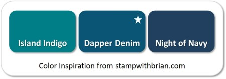 Dapper Denim - compared to Island Indigo and Night of Navy