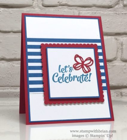 Confetti Celebration, Sunshine Wishes Thinlits, Stampin' Up!, Brian King, July 4 card