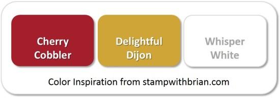 Stampin' Up! Color Inspiration: Cherry Cobbler, Delightful Dijon, Whisper White