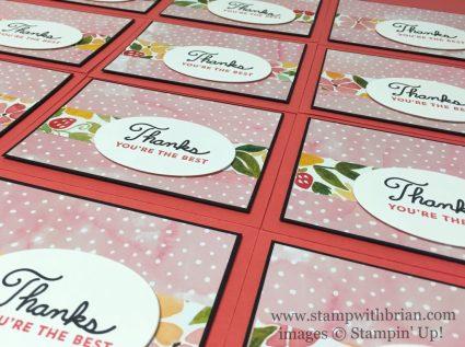Sunburst Sayings, Fruit Stand Designer Series Paper, Stampin' Up!, Brian King, simple thank you card