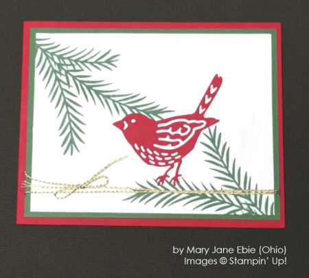 by Mary Jane Ebie, Stampin' Up!, Holiday One-for-One Swap