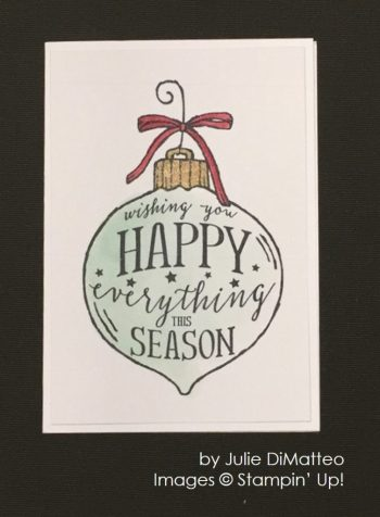by Julie DiMatteo, Stampin' Up!, Christmas cards