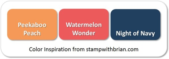 Stampin' Up! Color Inspiration: Peekaboo Peach, Watermelon Wonder, Night of Navy
