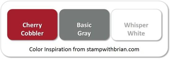 Stampin' Up! Color Inspiration: Cherry Cobbler, Basic Gray, Whisper White