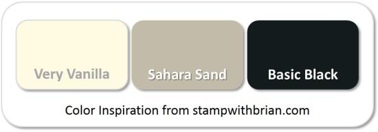 Stampin' Up! Color Inspiration: Very Vanilla, Sahara Sand, Basic Black