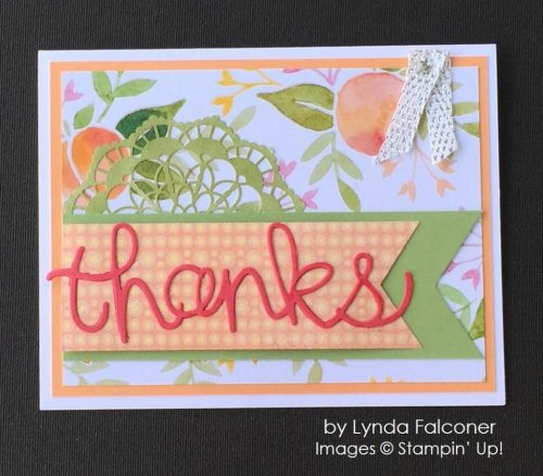 by Lynda Falconer, Stampin' Up! swap, thank you card