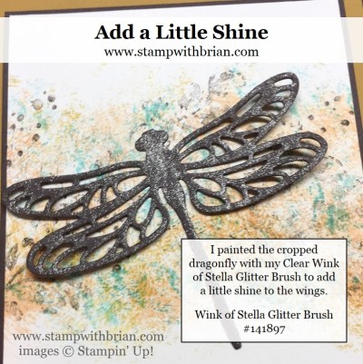 Use Wink of Stella Glitter Brush to add the right touch of glitter, Stampin 'Up!, Brian King