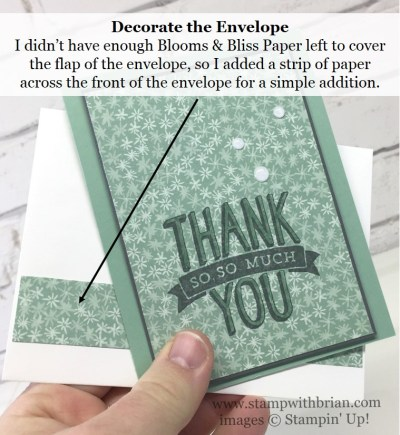 Scenic Sayings, Blooms & Bliss Designer Series Paper, Stampin' Up!, Brian King, thank you card