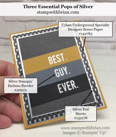 Urban Underground Specialty Designer Series Paper, Suite Sentiments, Stampin' Up!, Brian King