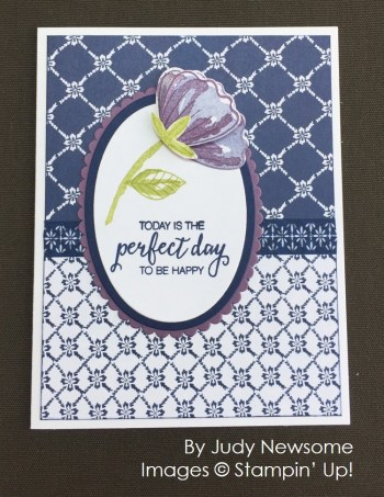 by Judy Newsome, Stampin' Up! swap card