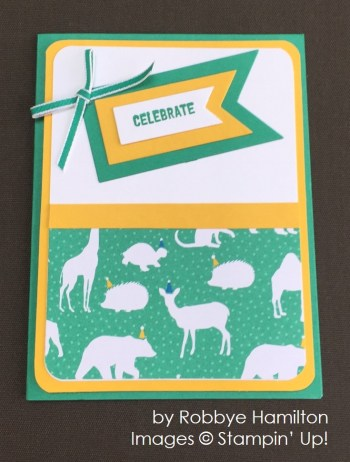 by Robbye Hamilton, Stampin' Up! swap card