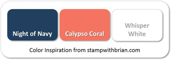 Stampin' Up! Color Inspiration: Night of Navy, Calypso Coral, Whisper White