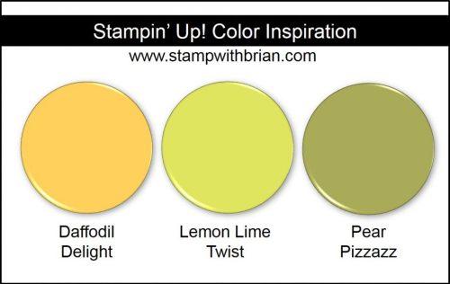 Lemon Lime Twist Comparison, Stampin' Up!, Brian King