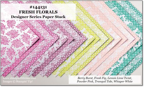 Fresh Florals Designer Series Paper Stack, Stampin' Up!