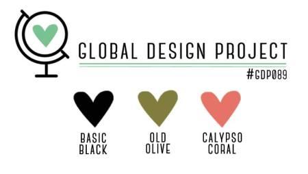 Stampin' Up! Color Inspiration: Basic Black, Old Olive, Calypso Coral