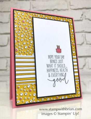 Special Celebrations, Tabs for Everything, Pick a Pattern Designer Series Paper, Stampin' Up!, Brian King, GDP086