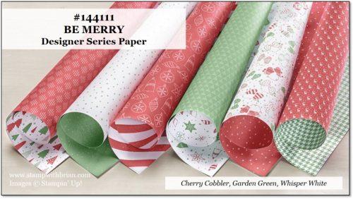 Be Merry Designer Series Paper, Stampin' Up!