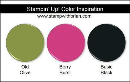 Stampin' Up! Color Inspiration: Old Olive, Berry Burst, Basic Black