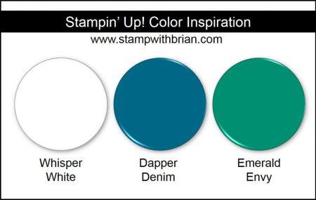 Stampin' Up! Color Inspiration: Whisper White, Dapper Denim, Emerald Envy