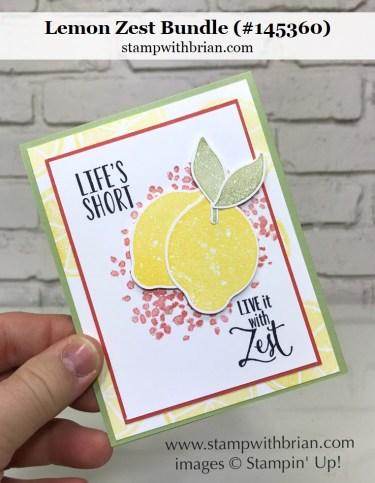 Lemon Zest, Lemon Builder Punch, Stampin' Up!, Brian King, GDP090