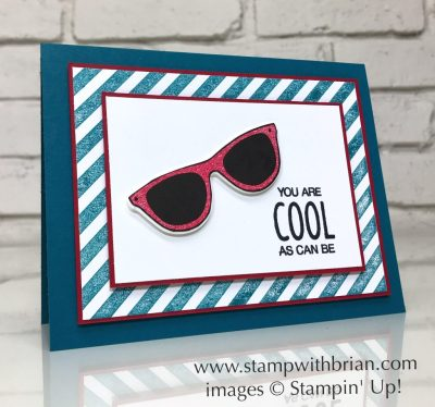 Pocketful of Sunshine, Cool Treats, Dare to Dream, Diagonal Stripe, Stampin' Up!, Brian King