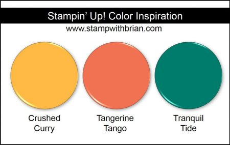 Stampin' Up! Color Inspiration: Crushed Curry, Tangerine Tango, Tranquil Tide