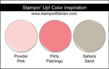 Stampin' Up! Color Inspiration: Powder Pink, Flirty Flamingo, Sahara Sand