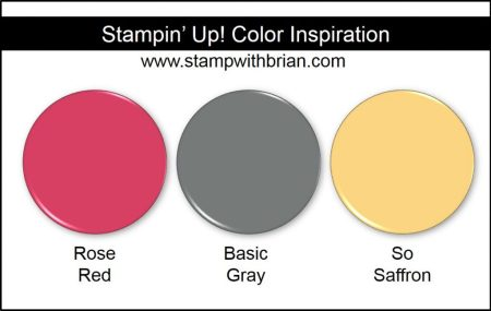 Stampin' Up! Color Inspiration: Rose Red, Basic Gray, So Saffron