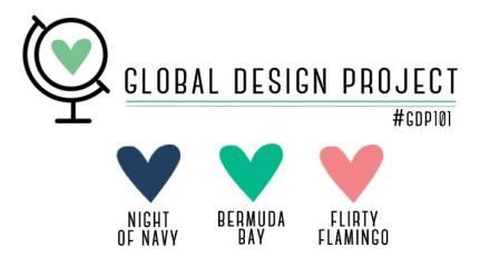 Stampin' Up! Color Inspiration: Night of Navy, Bermuda Bay, Flirty Flamingo