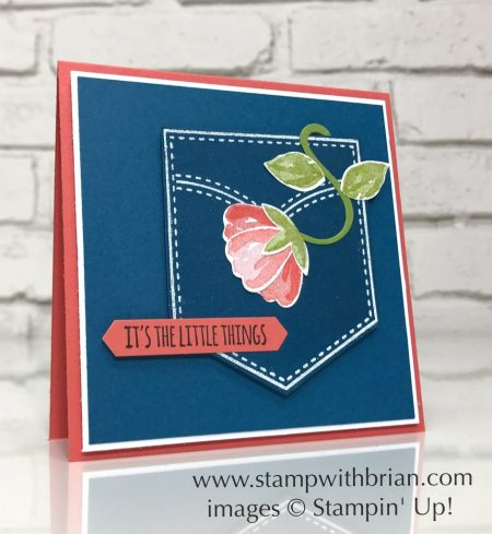 Pocketful of Sunshine, Bunch of Blossoms, The Little Things, Stampin' Up!, Brian King, FMS301