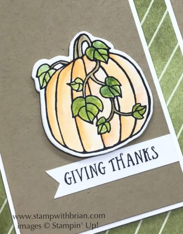 Seasonal Chums,Basket of Wishes, Stampin' Up!, Brian King, Thanksgiving card