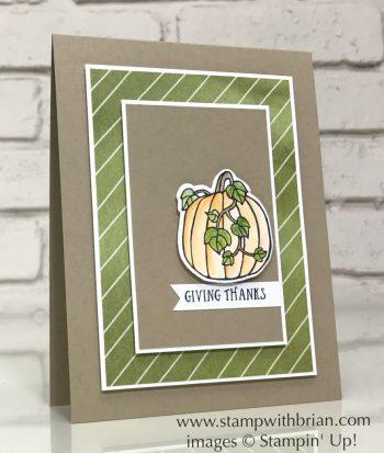 Seasonal Chums,Basket of Wishes, Stampin' Up!, Brian King, Thanksgiving card
