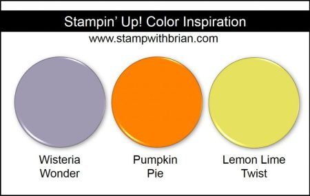 Stampin' Up! Color Inspiration: Wisteria Wonder, Pumpkin Pie, Lemon Lime Twist