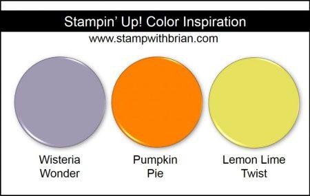 Stampin' Up! Color Inspiration: Wisteria Wonder, Pumpkin Pie, Lemon Lime Twist